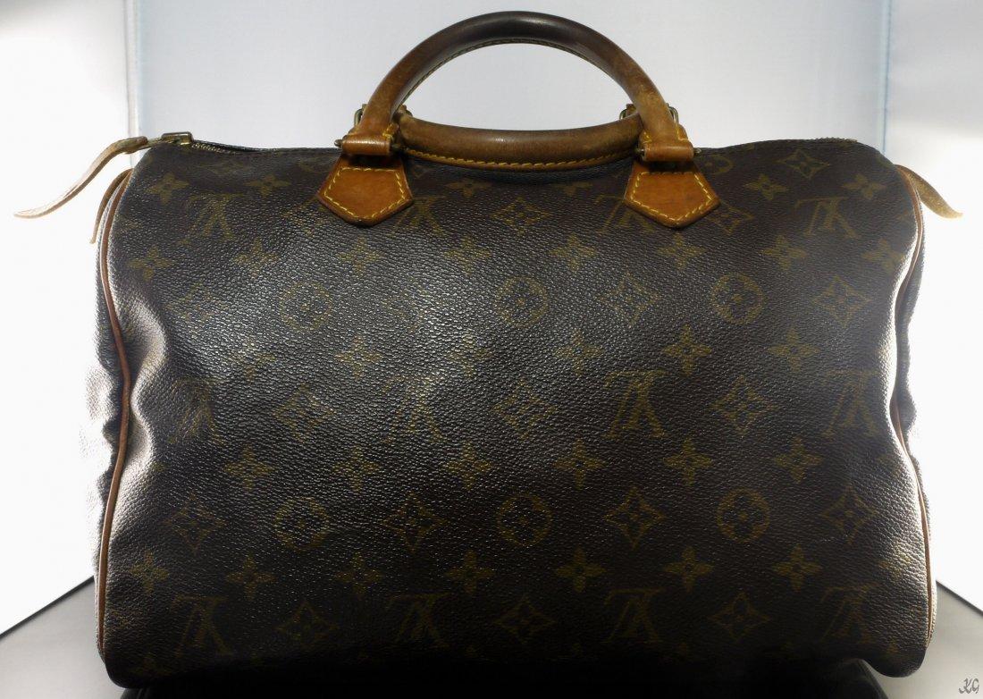 Authentic Vintage Louis Vuitton Monogram Speedy 25 W459