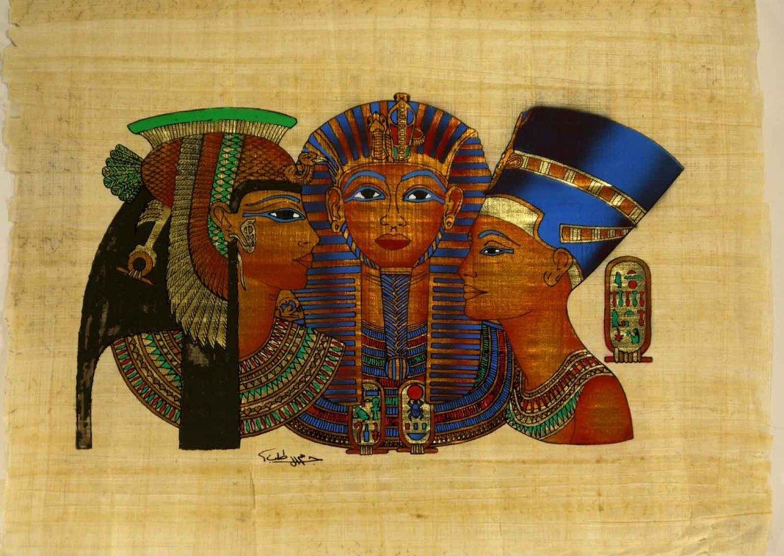 "Pharoah Horus Isis and Maat ""Papyrus Egyptian"" W30"
