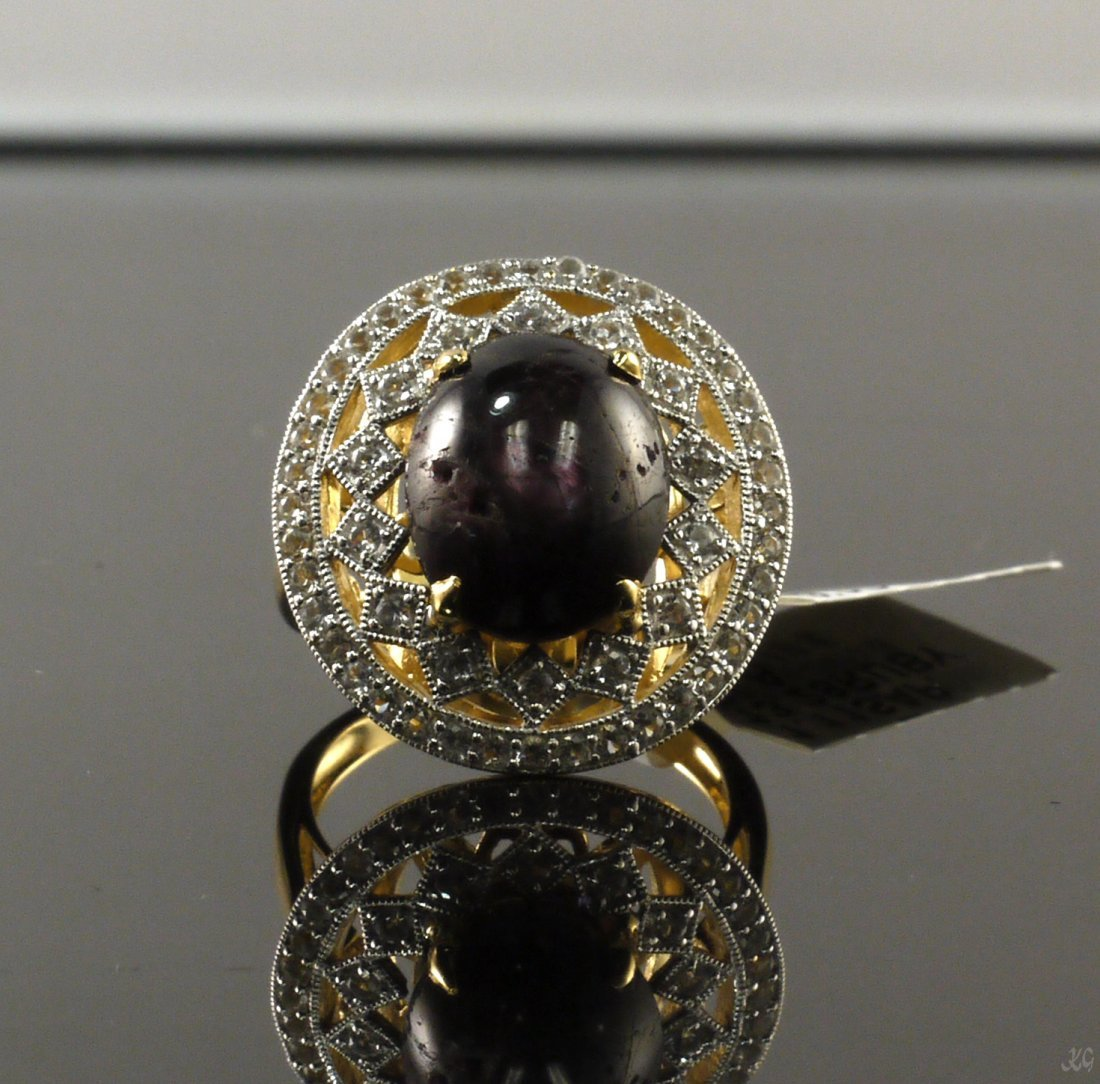 13.28ct Ruby 1.11ctw Sapphire Silver Ring K23J4