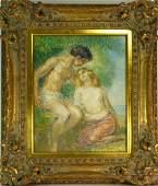 Emile Delobre Mythological Lovers Original W5103