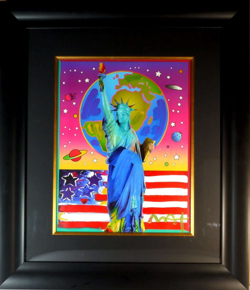 """Peter Max """"Peace on Earth"""" W3709"""