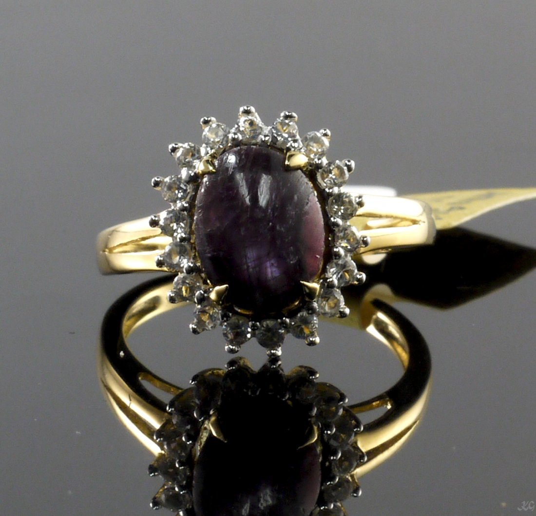 5.42ct Ruby 0.53ctw Sapphire Silver Ring K14J5