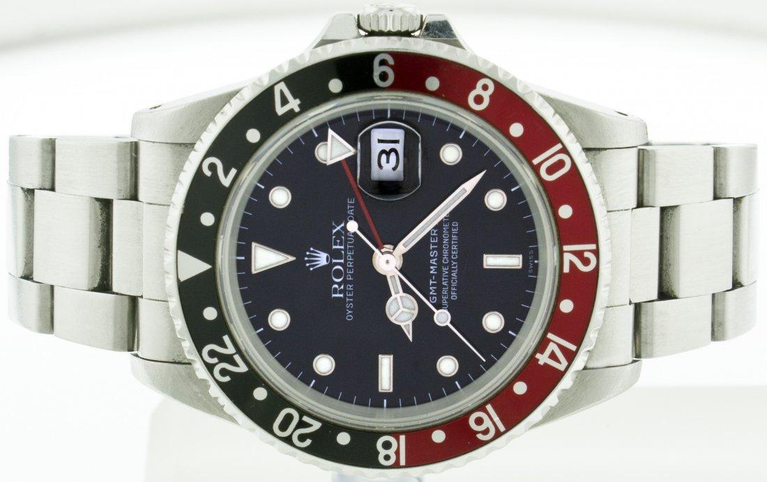 Rolex SS GMT Master II w/Black/Red Bezel WA13503