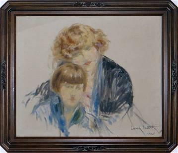 """Louis Icart """"Fanny et Reine"""" Original W43505"""