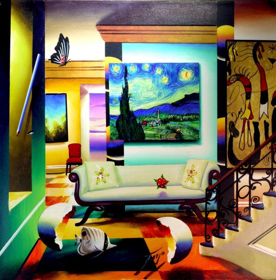 """Ferjo """"Salon in Van Gogh"""" W4055"""