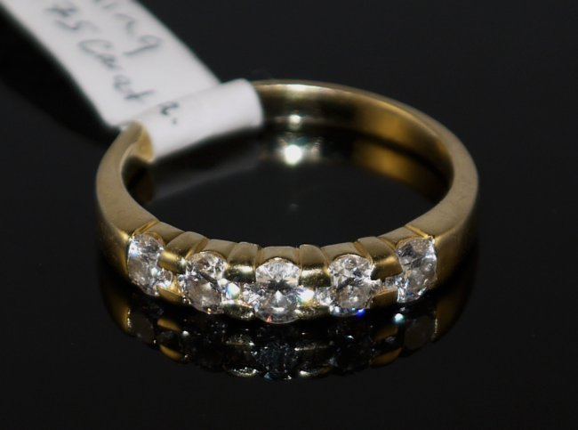 14KT YG 1.00ct Diamond Ring W3015
