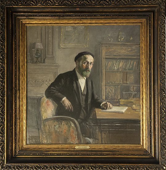 "Emile Delobre ""Self Portrait in Study 1935"" (FRAMED)"