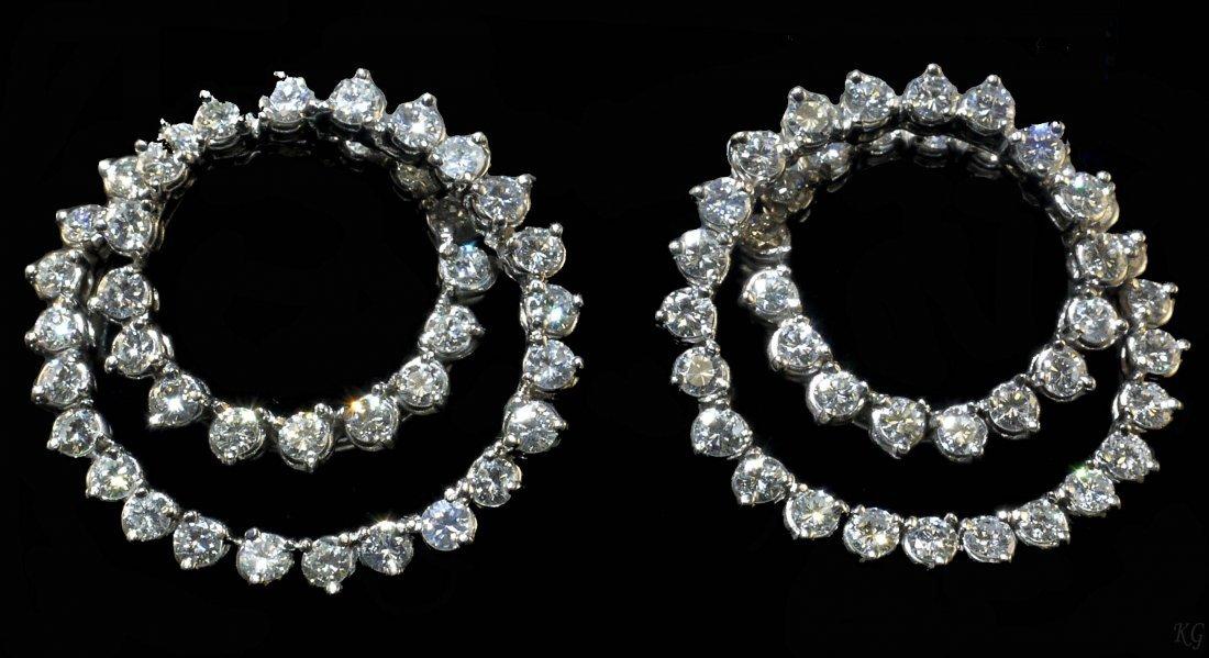 14kt WG 7.05ctw Diamond Earrings W30195