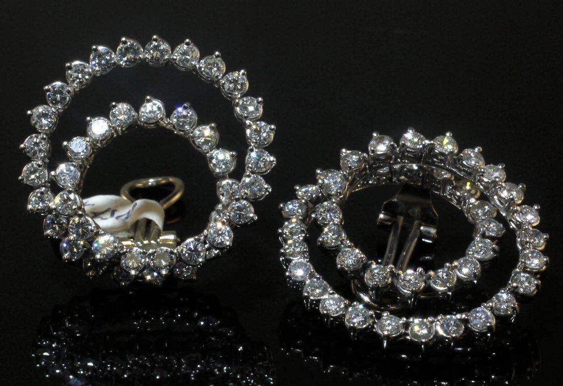 14kt WG 7.05ctw Diamond Earrings W30195 - 3