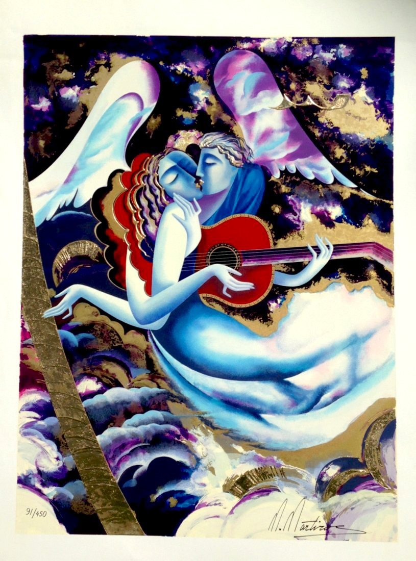 """Martiros Manoukian """"Angel Lovers"""" (Unframed) W1507"""