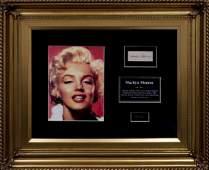 Hair Lock of Marilyn Monroe w/ Signature W603