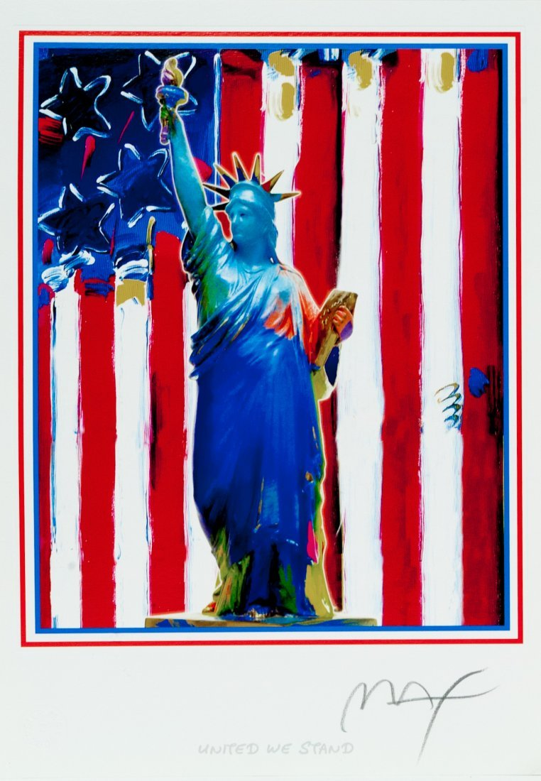 "Peter Max ""United We Stand"" W1501"