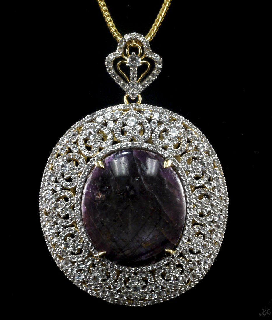 119.22 ctw Yellow & White Gold Plated Silver Ruby &