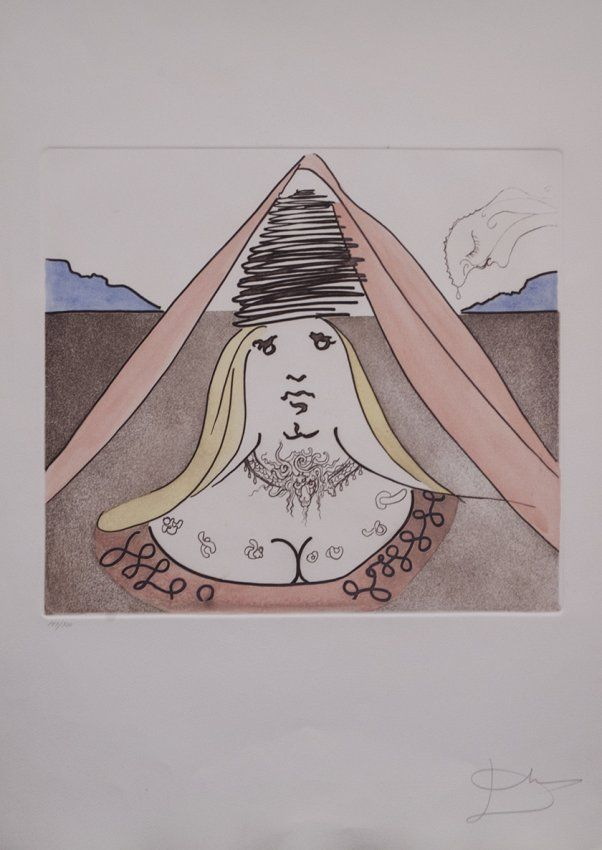 "Salvador Dali ""The Lady Dulcinea"" (Unframed) W2956"