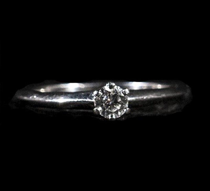Tiffany Platinum 0.19ct Dia Solitaire Ring W3654