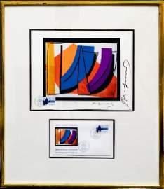 "Andy Warhol ""UN Stamp"" (FRAMED) W5602"