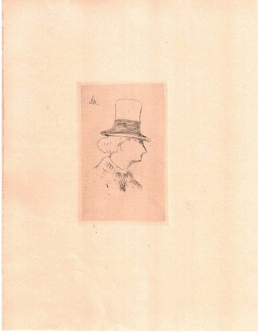 """Edouard Manet """"Baudelaire de profil en Chapeau"""" W1953"""