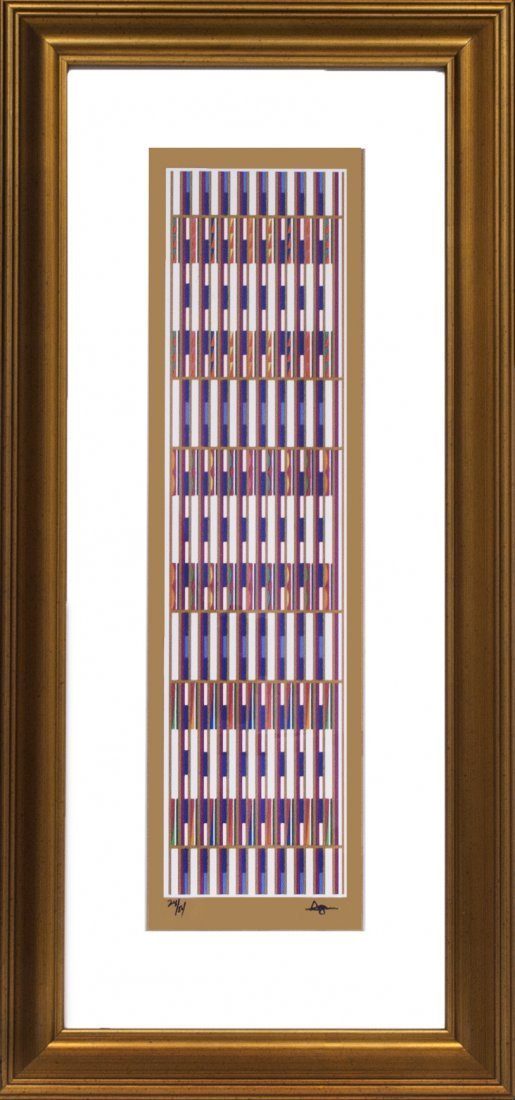"Yaacov Agam ""Vertical Orchestration"" (FRAMED) W750"