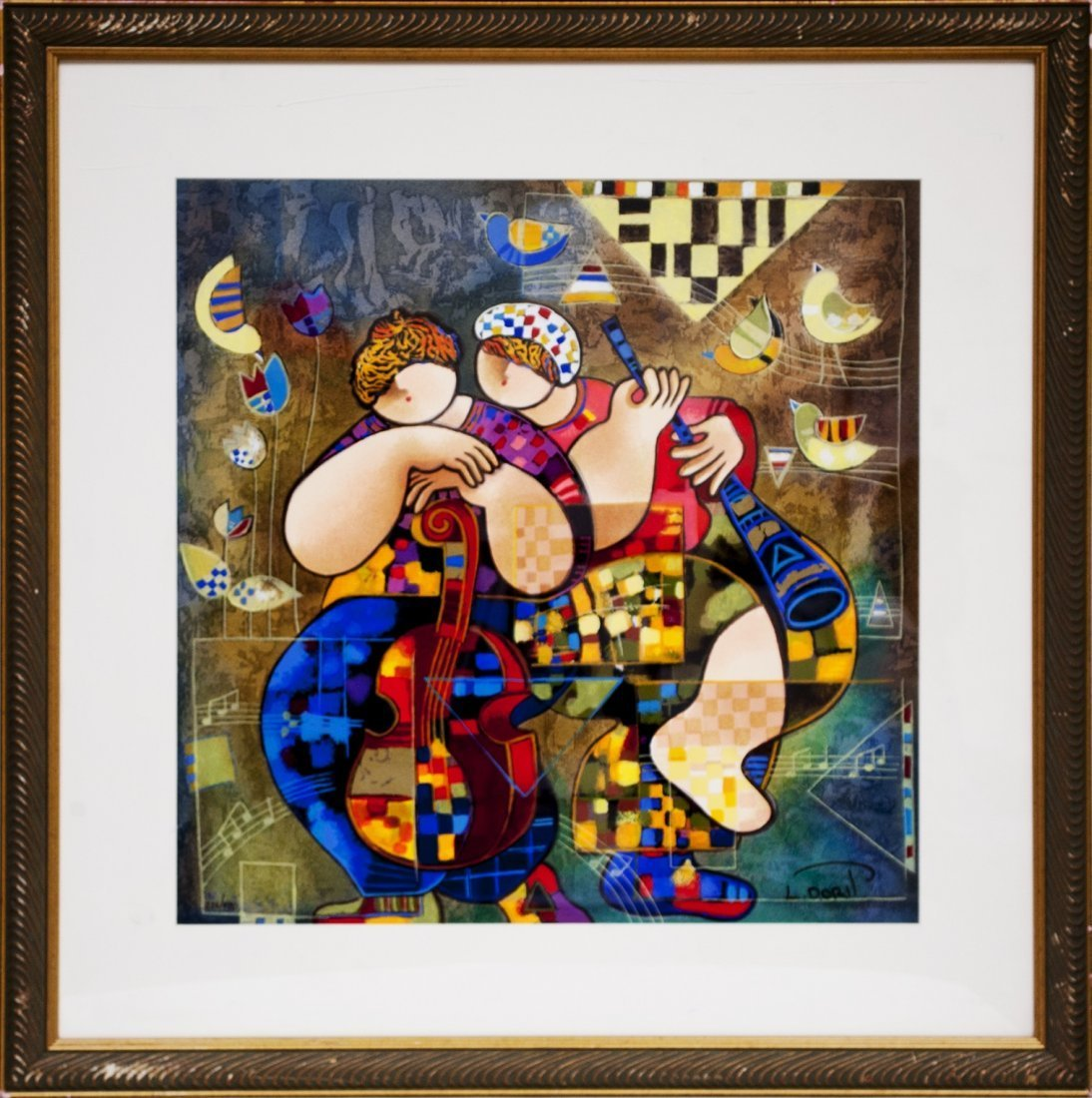 "Dorit Levi ""Serenade for Two"" (FRAMED) W301"