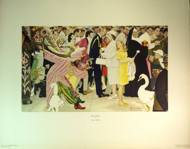 """Norman Rockwell """"Saturday People"""" W51"""