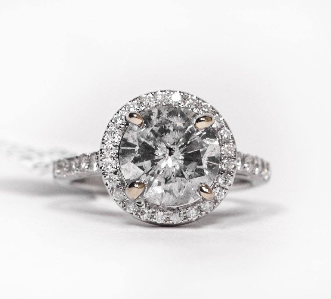 14KT White Gold 2.77ctw Diamond Ring K14E926