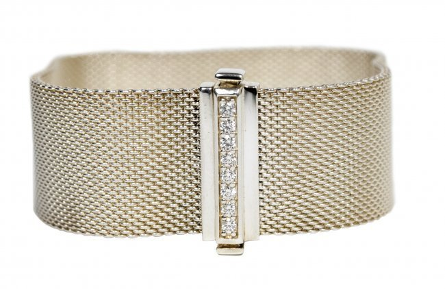 Tiffany&Co Sterling Silver w/ Dia Bracelet W1825