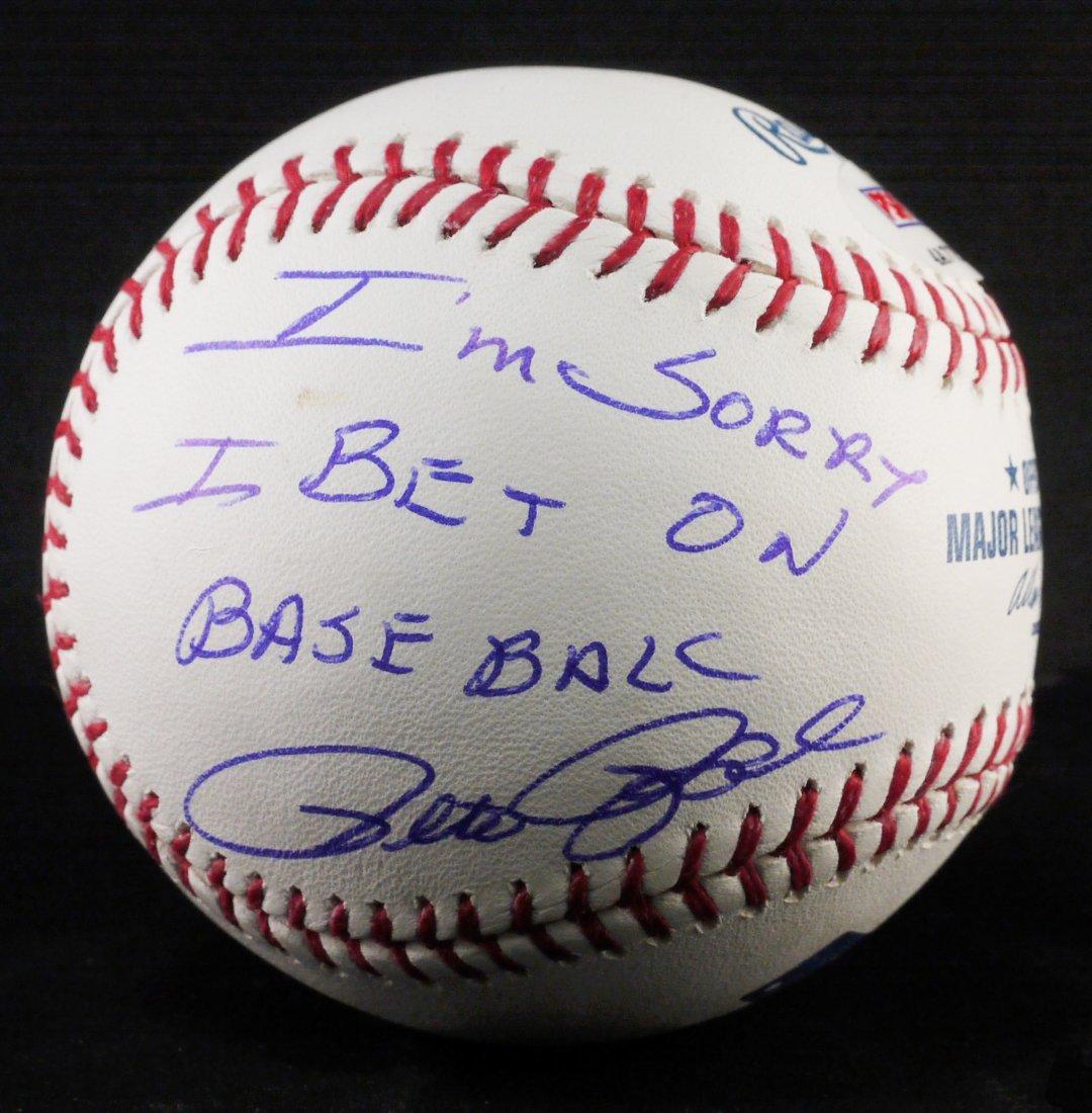 "Signed Pete Rose ""I'm Sorry IBet onBaseball"" W315"