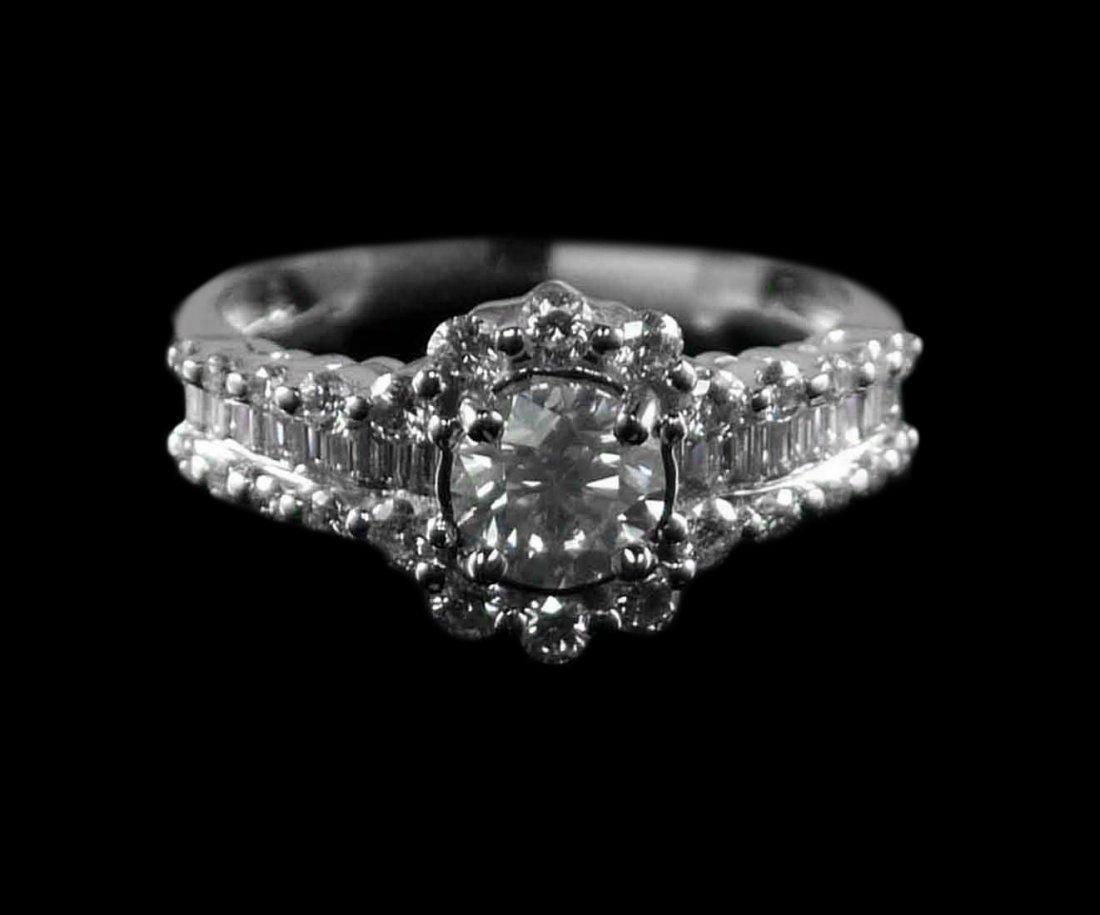 14kt White Gold 4.32ctw Diamond Ring K16J983