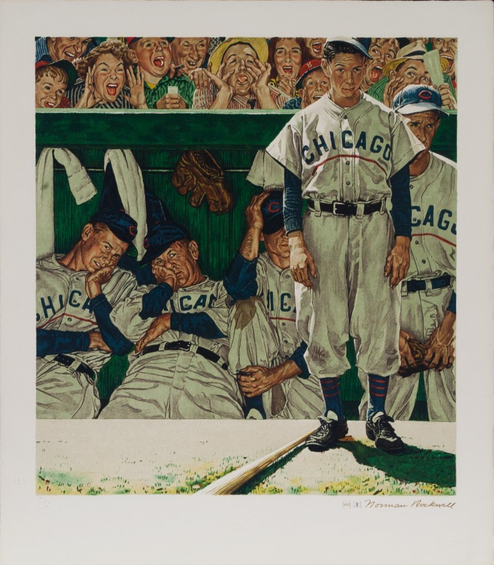 """Norman Rockwell """"The Dugout""""(Unframed) W375"""