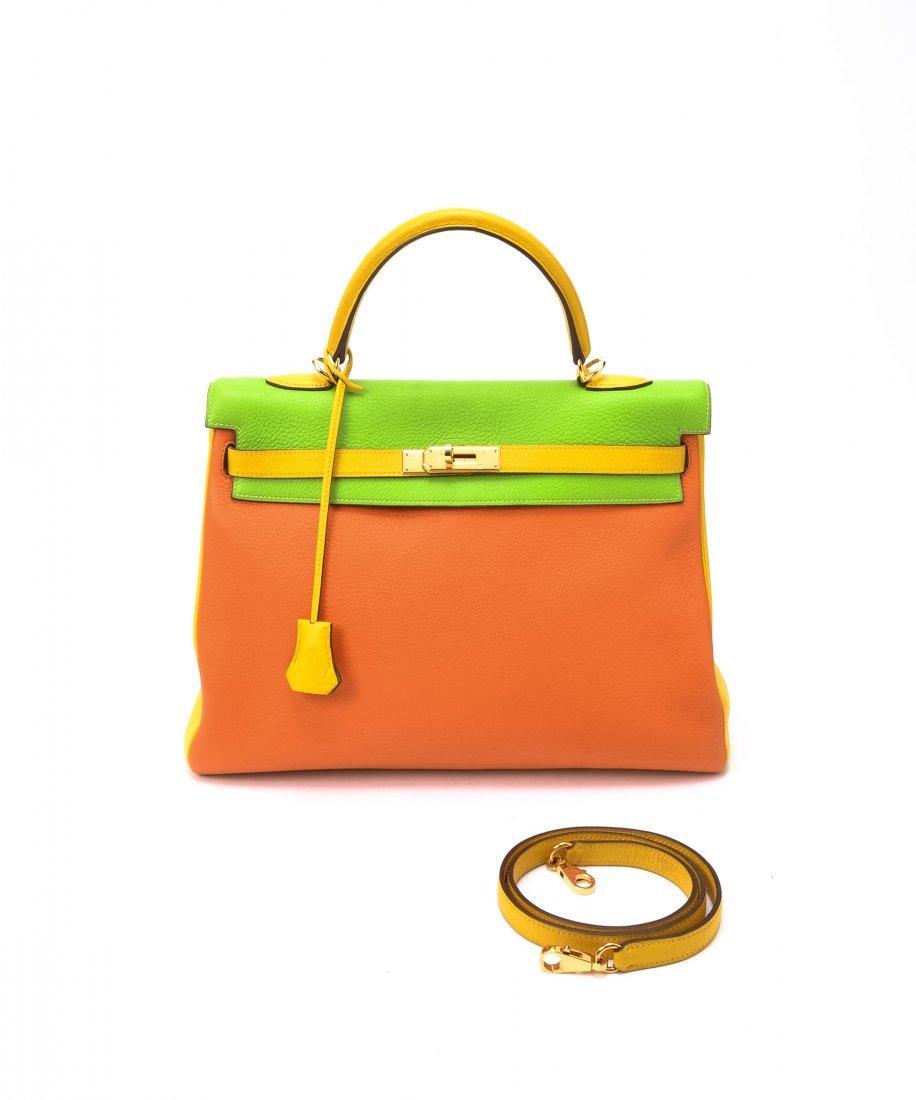 Hermes Kelly 35 Tri-color WF53985
