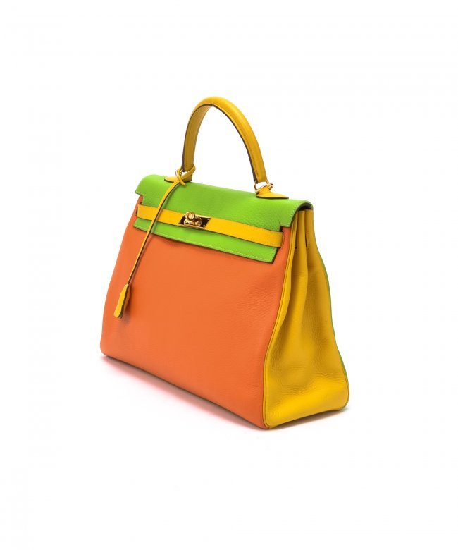 Hermes Kelly 35 Tri-color WF53985 : Lot 1