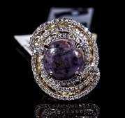 21.38ct Ruby & Sapphire Silver Ring K31J9
