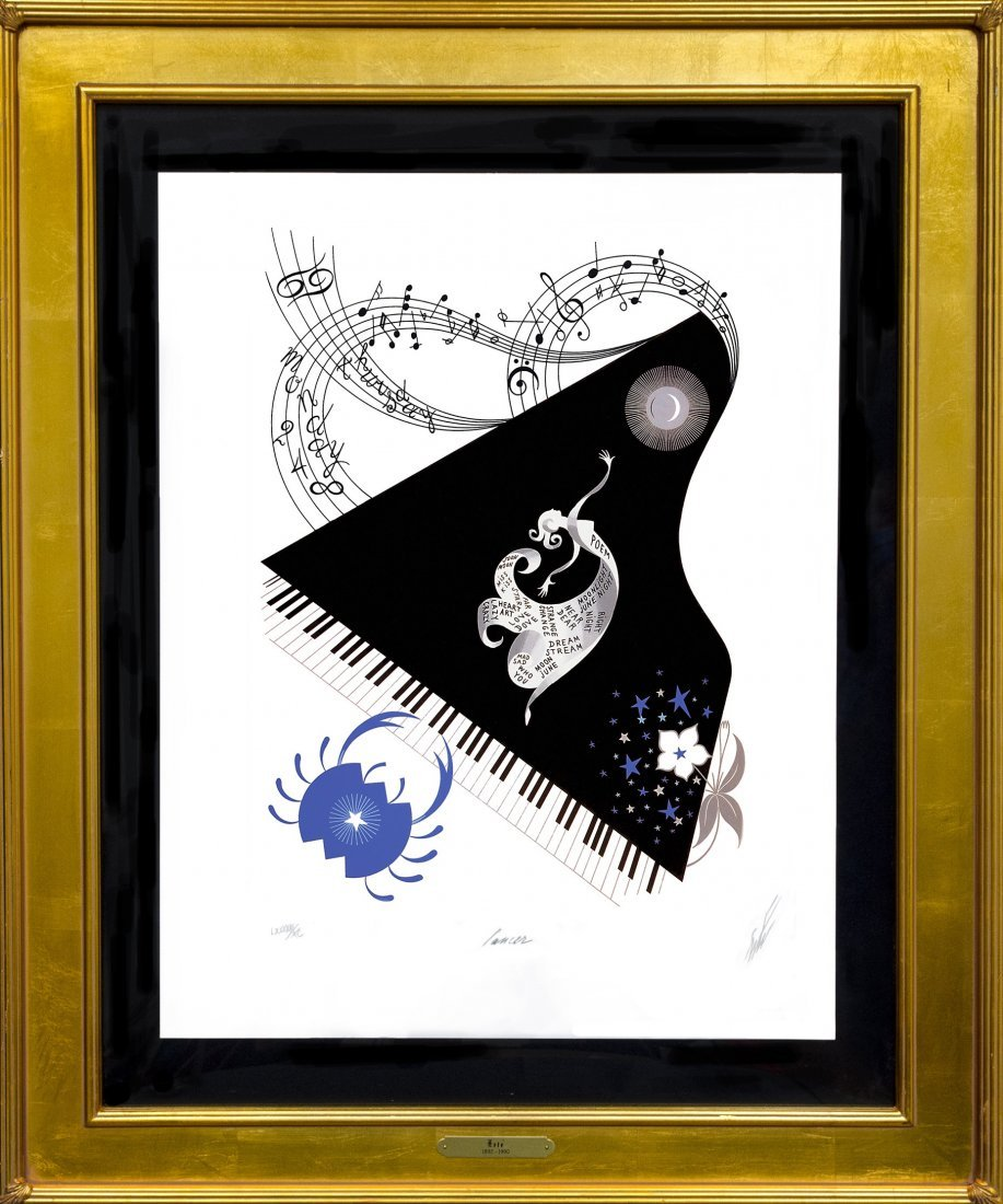 "Erte ""Cancer"" from the Suite ""The Zodiac"" W1988"
