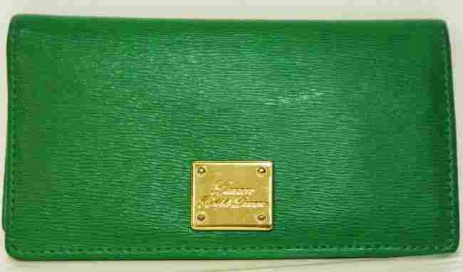 Ralph Lauren Newbury Green Leather Slim W150