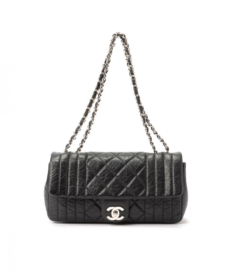 Chanel Semi Matelasse Double Chain Shoulder Bag WF6948