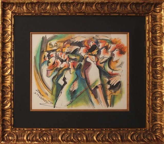 Zamy Steynovitz Original Watercolor and Pastel Hand