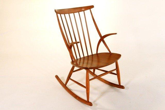 17: Illum Wikkelso - Wood Rocking Chair