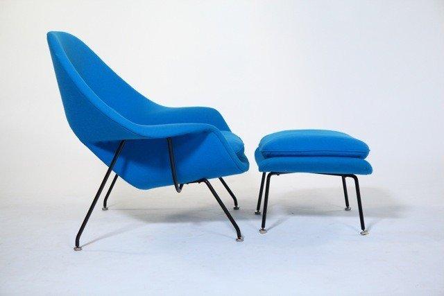 92: Eero Saarinen  -  Womb Lounge Chair and Ottoman