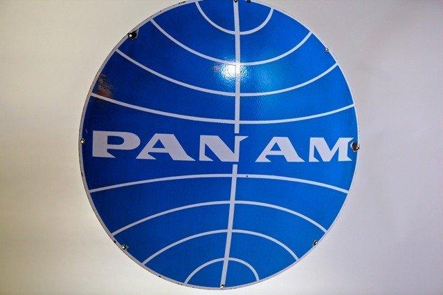 207: PAN AM  - Enamel Trade Sign