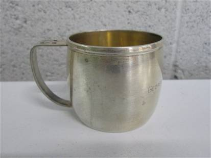 Small Sterling Cup. Engraved Carlisle Williams Jr.