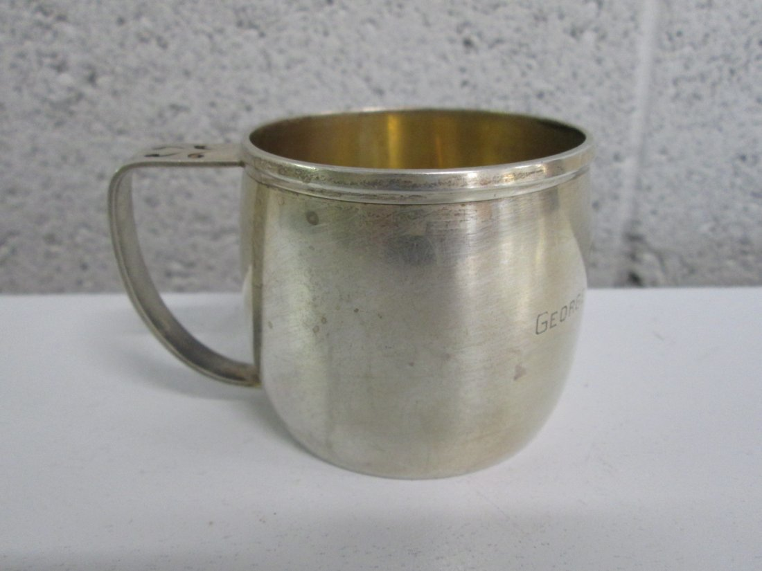 5: Small Sterling Cup.  Engraved Carlisle Williams Jr.