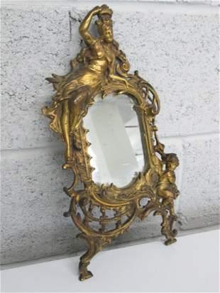 Small Gold Gilt Frame Mirror