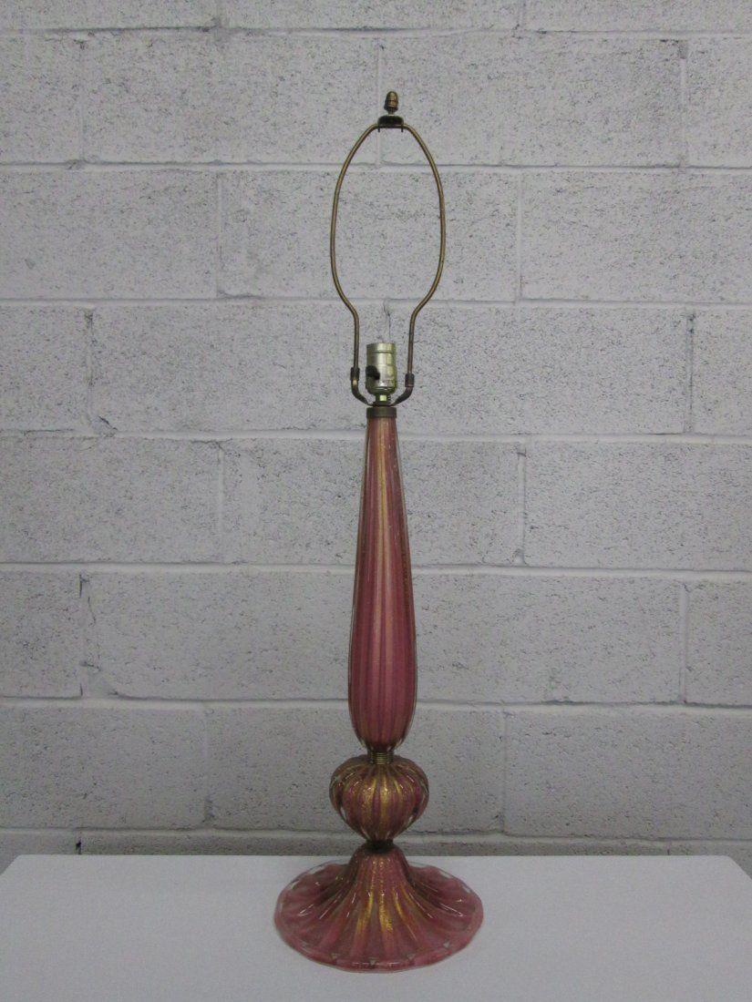 Pink Murano Lamp