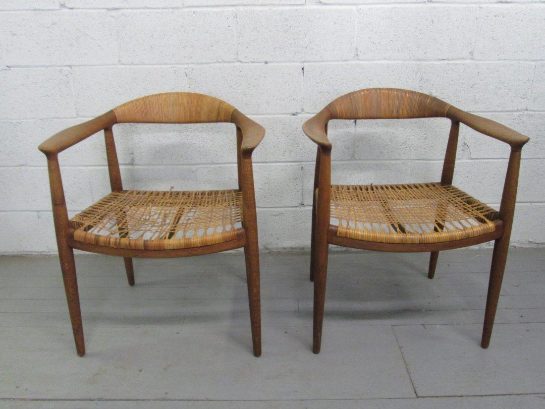 38: Pair Hans Wegner The Chair for Johannes Hansen.  Or