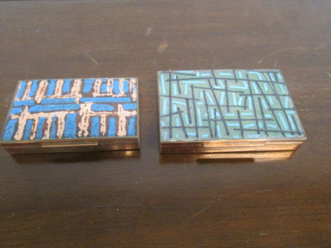 Two Small Italian Enameled Boxes