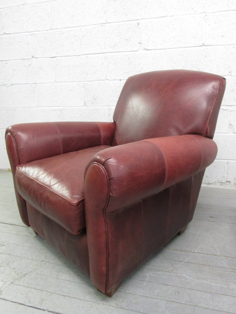 131: Leather Chair & Ottoman by Bauhaus - 2