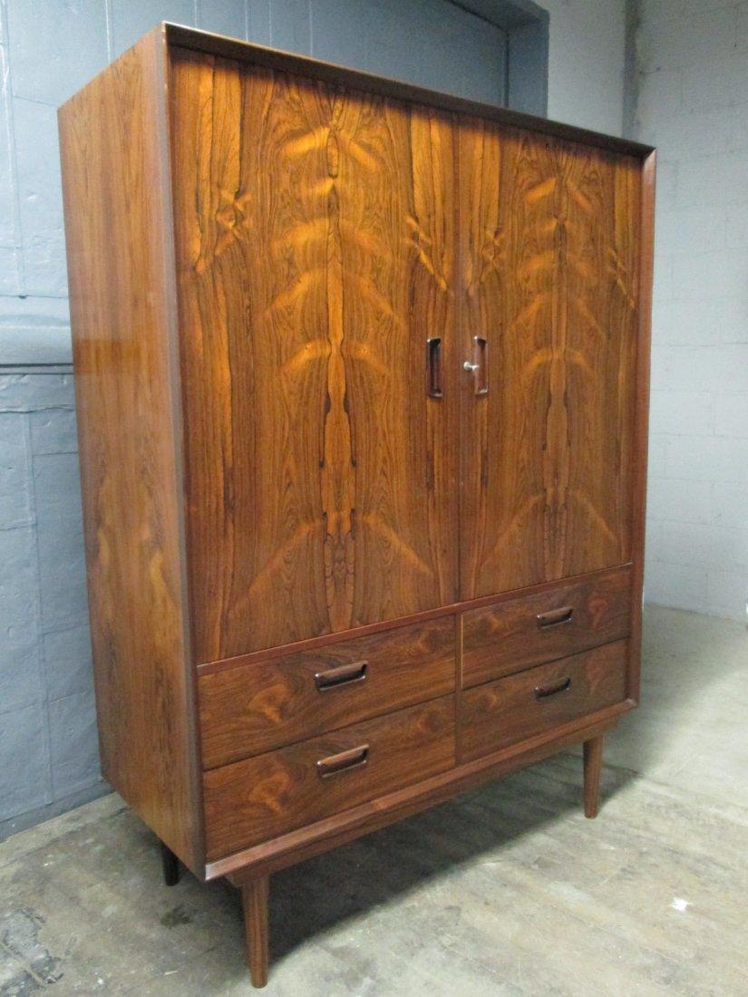135: Mid Century Modern Rosewood Chest / Wardrobe