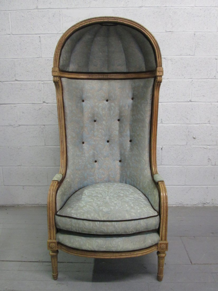 490: Antique Style Porters Hood Chair