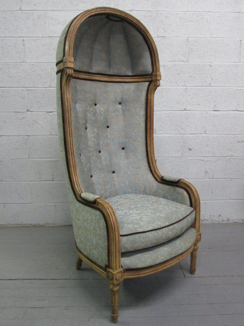 490: Antique Style Porters Hood Chair - 2