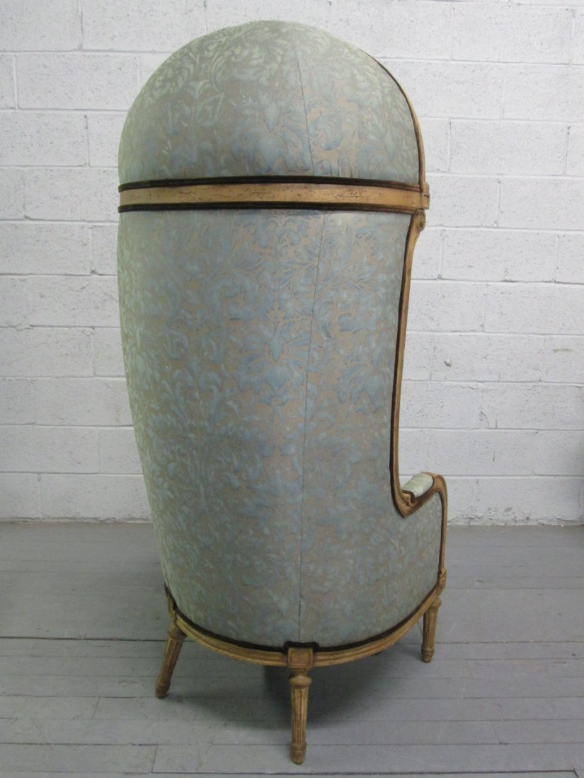 490: Antique Style Porters Hood Chair - 3